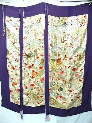 "Kicho-Partation by EDO Antique ""KOSODE Kimono"" A760"