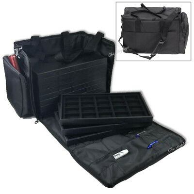 Deluxe Soft Carrying Case Jewelry Carry Case Traveling Case & Trays & Liners