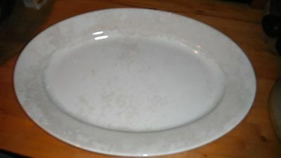 15x21 antique vintage oval white ironstone platter by Wedgwood & Co ROYAL STONE
