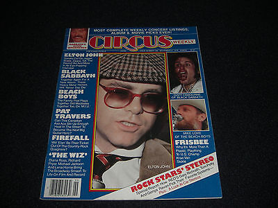 ELTON  SABBATH OZZY BEACH BOYS Circus Magazine 1978