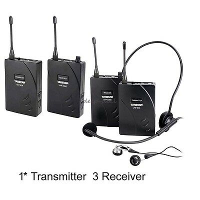 Takstar wireless tour guide system Teach Train Tourism 1 Transmitter 3 Receiver
