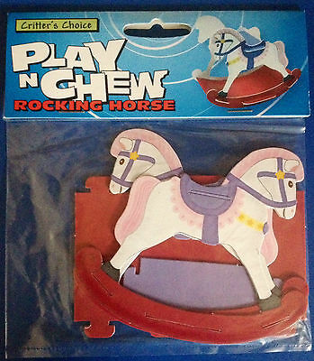 Play n Chew Cardboard Rocking Horse Activity Toy Hamster Gerbil Mouse BNIP