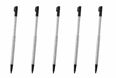 Hellfire Trading 5x Black Silver Stylus Retractable Touch Pen for Nintendo 2DS