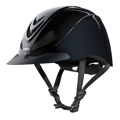 Troxel Liberty Low Profile Black English And Western Safety Riding Helmet Horse