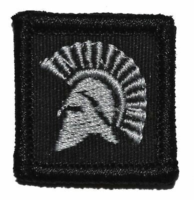 Spartan Head - 1x1 Military/Morale Hat Patch with Hook Fastener