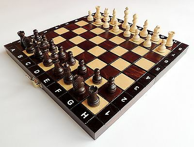 Brand New Handmade Travel Wooden Chess Set 27Cm / 10.5 Inches