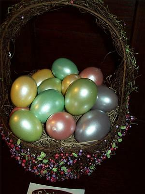 New Set Of 15 Easter Egg Fillers Table Decor Sitters Pearlized Shiny Pastels