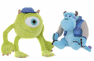 """Official Brand New 8"""" Mike And Sulley Monsters Inc University Plush Soft Toys"""