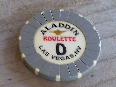 ROULETTE CHIP FROM THE ALADDIN CASINO, LAS VEGAS (gd)