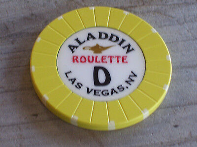 ROULETTE CHIP FROM THE ALADDIN CASINO, LAS VEGAS (yd)