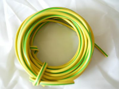 Green / Yellow  PVC Earth Sleeving 3mm, 4mm, 6mm Various Lengths