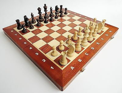 BRAND NEW TOURNAMENT NUMBER 4 WOODEN CHESS SET 40CM WITH WEIGHTED PIECES