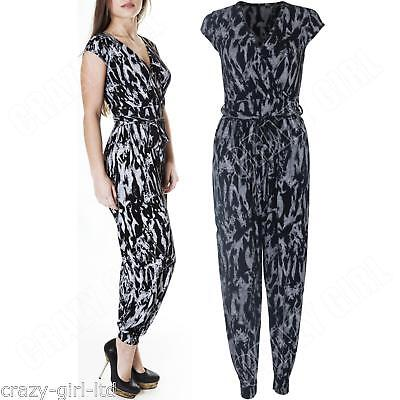 ea3bfde98e New Womens Tie Dye Print All In One Ladies Jumpsuit Playsuit Size S M L XL  8 10