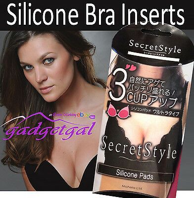 Value Pk - All 3 Styles - Silicone Bra Inserts, Breast Enhancers Chicken Fillets