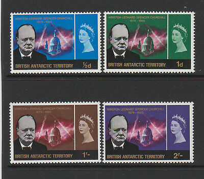 British Antarctic Territory 1966 Churchill Sg 16-19 Mnh.