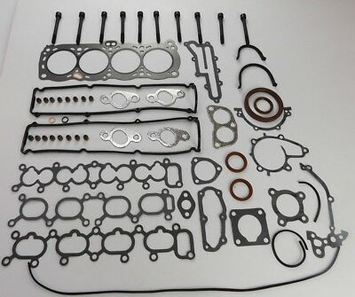 Full Engine Head Gasket Set Bolts Fits Nissan 200Sx S13 Sunny 1.8 Ca18Det Turbo