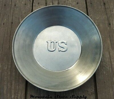 US Civil War Union North States Army U.S. Tin Dinner Plate / Camp Dish / Bowl