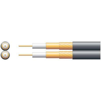 Mercury 807.028 Twin Economy Foam Filled Satellite/TV Coaxial Cable Black - 100m