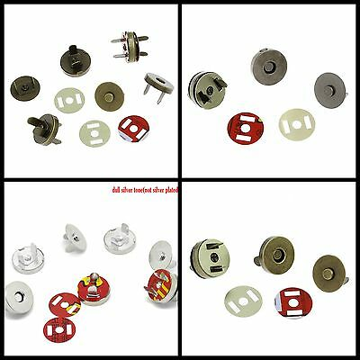 5 Pcs Magnetic Snap Clasps For Purses or Bags 14mm and 18mm Many Colours ML