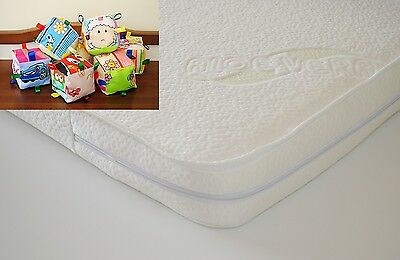 All Sizes CRIB/BABY COT/COTBED Foam MATTRESS with Aloe Vera Zip Cover