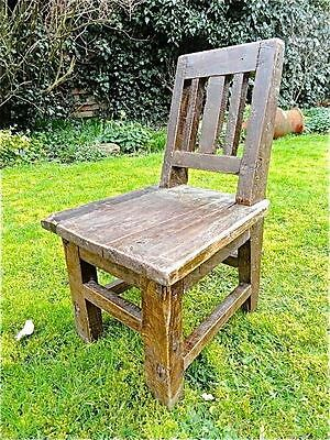 Lovely Antique Shabby Chic Folk Art Handmade Wooden Childs Chair Rustic Chair • £33.99