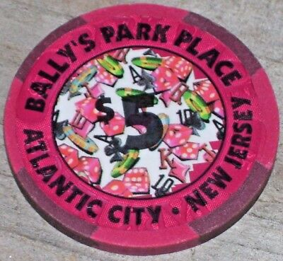 $5 3Rd Edition Chip From Bally's Park Place Casino Atlantic City
