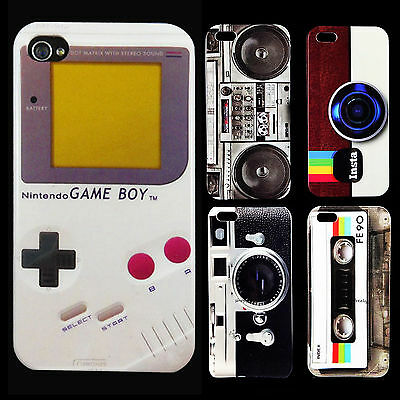 Deluxe Fashion Retro Stlye Glossy Hard Back Skin Case Cover For Apple Iphone4 5