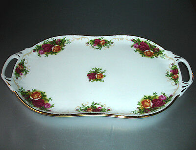 "Royal Albert OLD COUNTRY ROSES Handled Serving Tray Platter 12"" Boxed New"