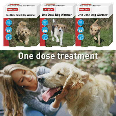 Beaphar Dog Puppy One Dose Wormer Tablets Range Of Doses Small Medium Large L