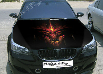 Dead Full Color Graphics Adhesive Vinyl Sticker Fit any Car Hood #048