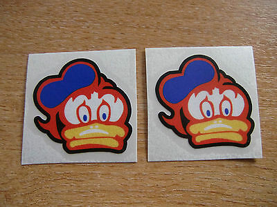 2x Barry Sheene Duck  decals / stickers 50mm