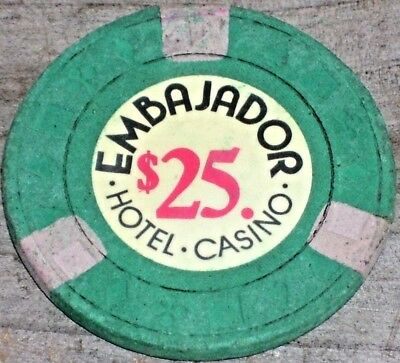 $25 Vintage Gaming Chip From The Embajador Casino Dominican Republic