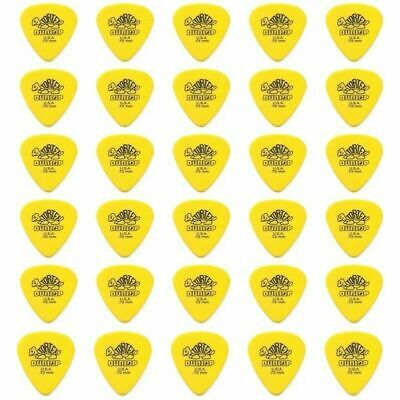 Dunlop Standard Tortex 30 x Guitar Picks / Plectrums 30 x yellow 0.73 mm Gauge
