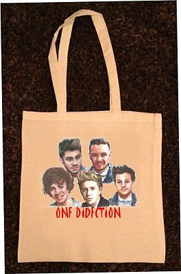 One Direction Tote/shopping Bag 100% Cotton 1D