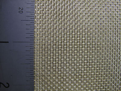 COARSE BRASS WOVEN WIRE MESH FILTER CRAFT BARGAIN - A3 Sheet (420 x 300mm)