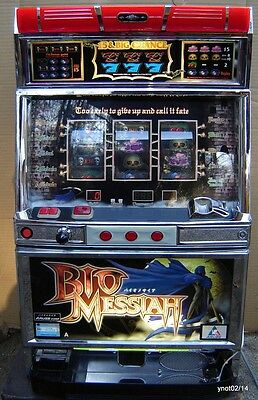 *BIO MESSIAH* token SLOT MACHINE casino action~skull/dungons/death/grim reaper