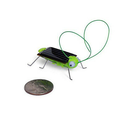 New Solar Power Robot Insect Grasshopper Bug Locust Cricket Kit Toy Funny #L