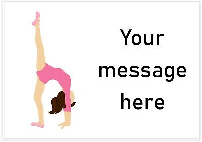63 personalised stickers address party bag thank you - gymnastic girl