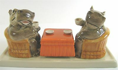 Quirky Ceramic Hippopotamus Salt & Pepper Shakers