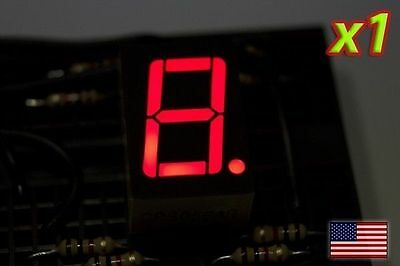 [1x] RED 7 Segment LED Display Common Cathode - 0.75 in