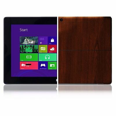 Skinomi Tablet Dark Wood Skin+Screen Protector for Microsoft Surface Windows RT