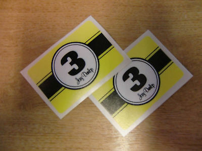2x Joey Dunlop Number 3 decals / stickers