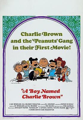 """""""A BOY NAMED CHARLIE BROWN""""..Classic Movie Poster A1A2A3A4 Sizes"""