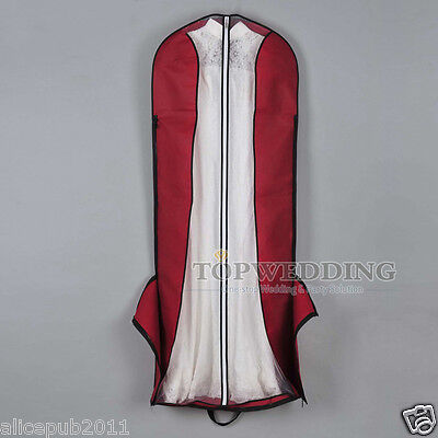Breathable Bridal Wedding Storage Garment Bags Ball Gown Dress Suit Protector