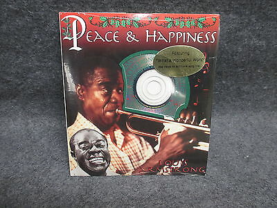 Louis Armstrong Music CD Christmas Card STILL SEALED What a Wonderful Life