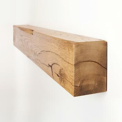 4x6 Reclaimed Solid Oak Fireplace Mantel Shelf by Funky Chunky Furniture