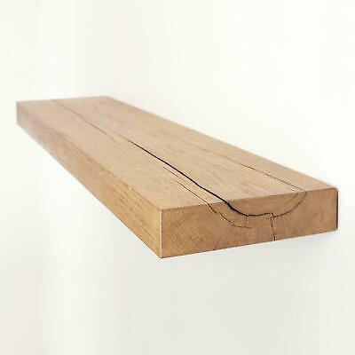 Oak Floating Shelf Shelves made from Reclaimed Rustic Solid Oak 8x2