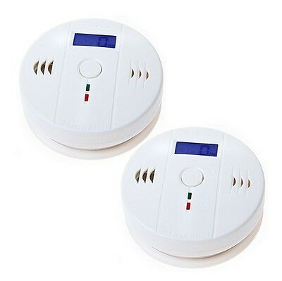 2x HOT SELL CO Carbon Monoxide Poisoning Gas Sensor Alarm Detector UK stock jkd
