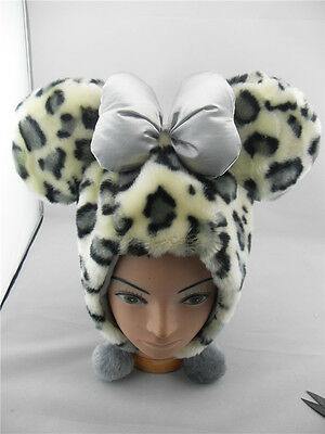 Disney World Mickey Mouse Spots Plush Hat Cap With Costume / Leopard