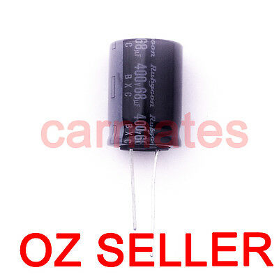 Capacitor 68uf 400V 105°C  18X25mm for TOSHIBA LCD Monitor Screen Repair Rubycon